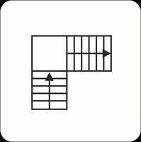 Лестница Г-образная с поворотом на 90* через площадку