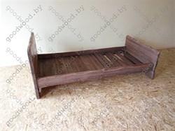 Кровать 1-на спальная цвет палисандр (900*2000) - фото 4579