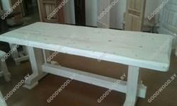 Стол  обеденный в бесцветном лаке (800*2000) - фото 4583