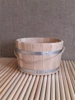 Ведро деревянное 10л.,  дуб - фото 4718