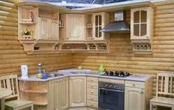 Кухня угловая из сосны - фото 4726