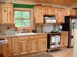 Кухня прямая из сосны - фото 4727
