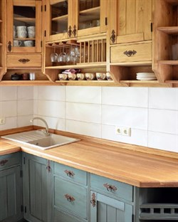 Кухня угловая, двухцветная - фото 4733