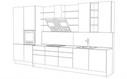 Линейная кухня - фото 4982