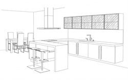 Кухня с полуостровом - фото 4985