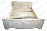 Кровать 2ухспальная из сосны Арт.56 (1600*2000) окрашенная