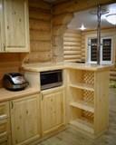 Кухня из сосны, покрытие - лак